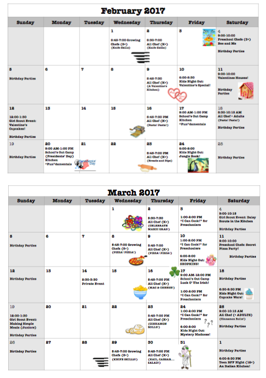 February through May Flyer