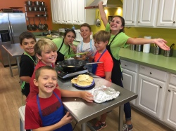 kids cooking at camp