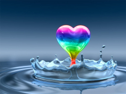 Heart rainbow drop