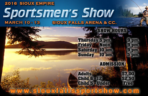 Sioux Falls Sportsman Show Gold Ad 2016