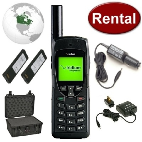Iridium 9555 Satellite Phone Rental + Free Delivery anywhere in Canada
