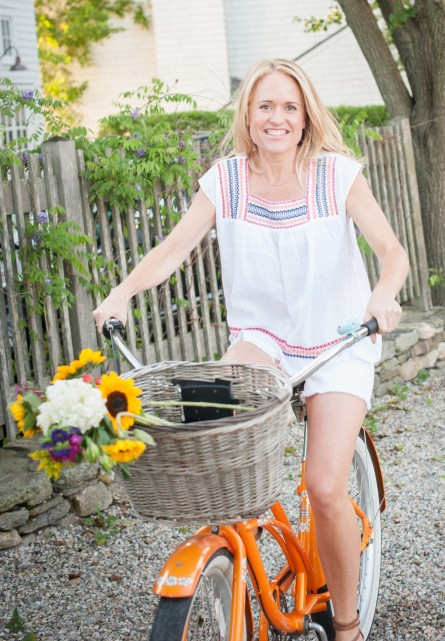 Jenny Lynn of Salt Water Wellness on a Bicycle