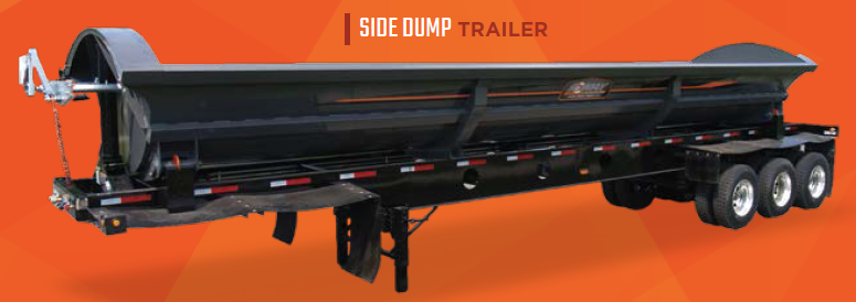 Side Dump Trailer from Krain Creek Fabrication in Long Prairie, MN