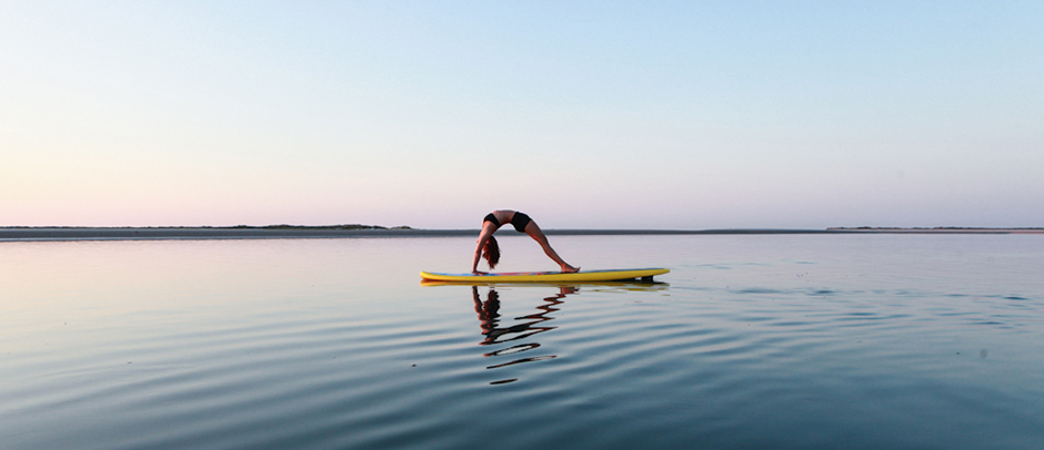 Standup paddleboard yoga in North Carolina
