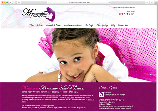 momentum-school-of-dance-website