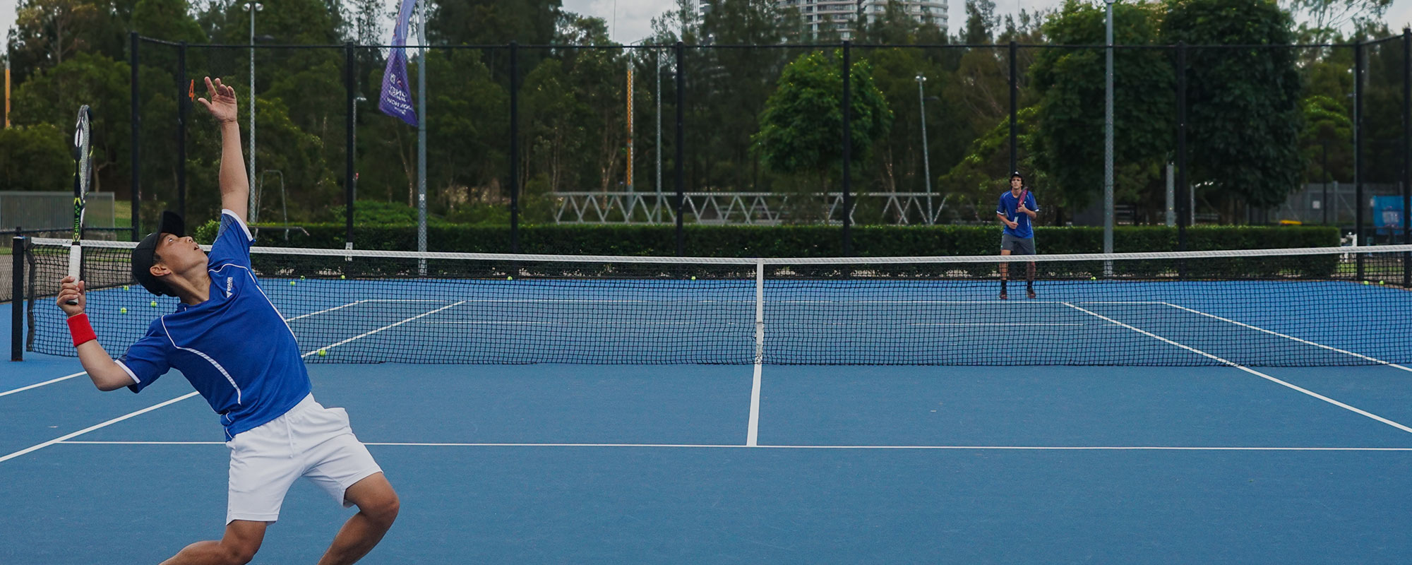 Tennis Match at Voyager Tennis Academy