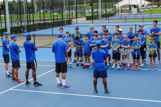 tennis class at Voyager Tennis Academy