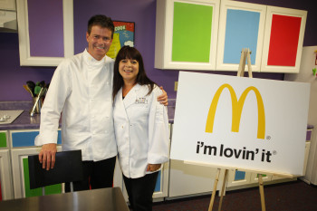 Jill Jacobs with McDonalds Corporate Chef Dan