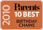 Young Chefs was Voted Best Birthday Chain in 2010