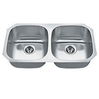 Madeli 50/50 stainless steal sink