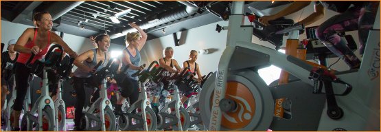 Indoor Cycling Class at Anchorage Cycle