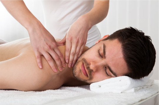 Man getting massage