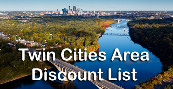 Twin Cities Area Discount List