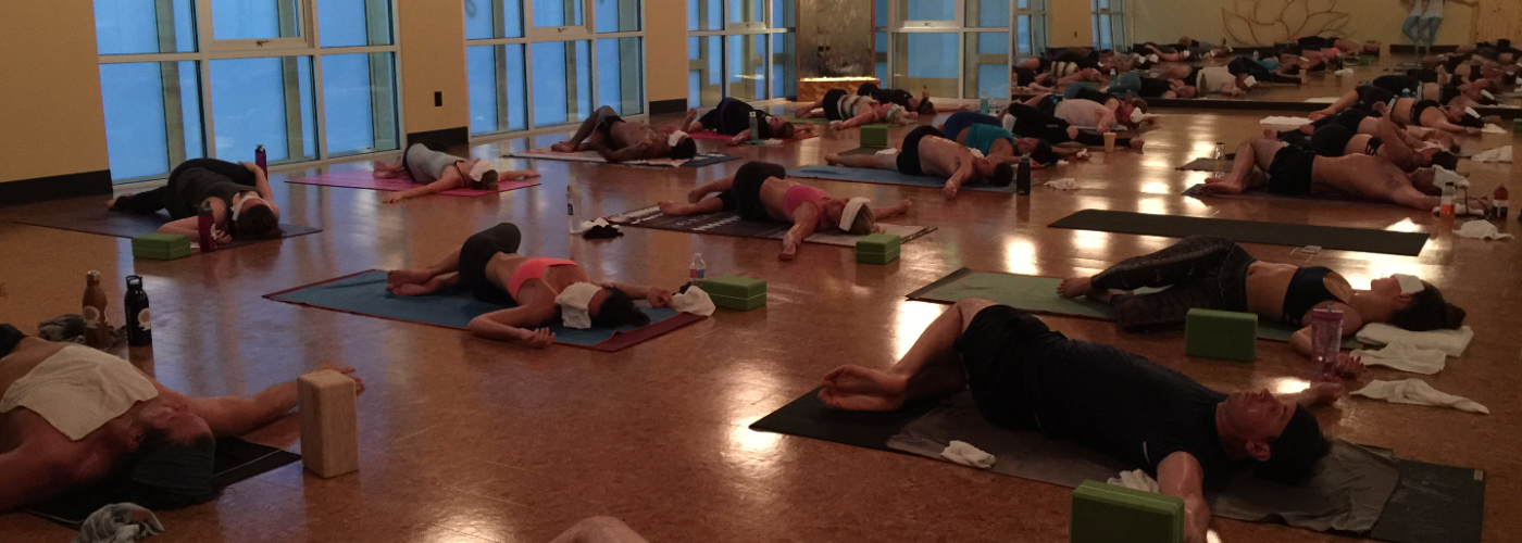 Hot Yoga Class in Session at Bend and Zen Hot Yoga