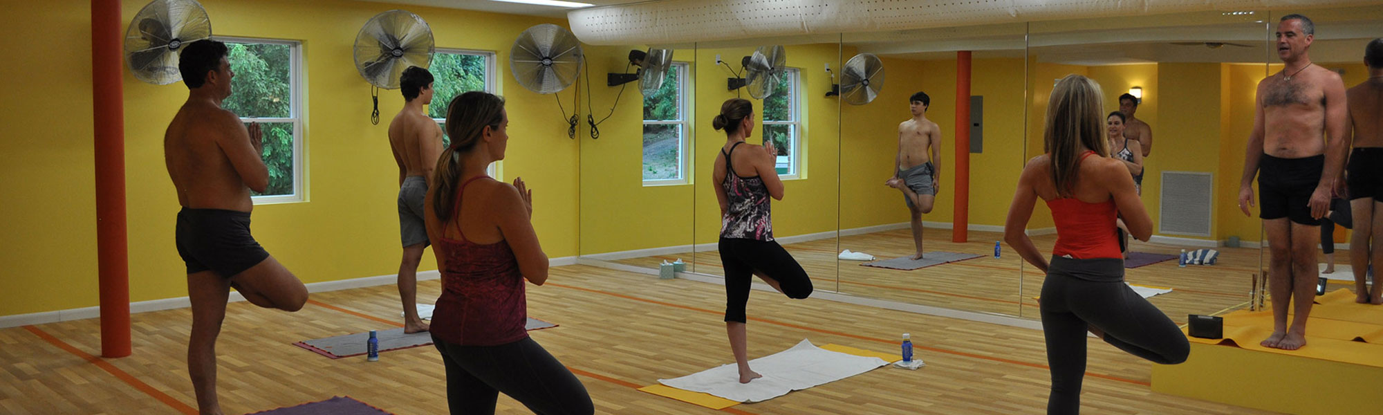 Yoga Class in Session at Bikram Yoga Roslyn