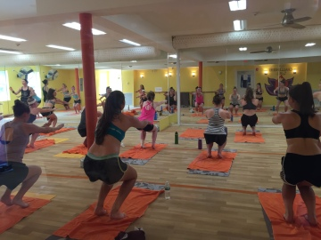 Bikram Yoga Class in Session at Bikram Yoga Roslyn in Roslyn, NY