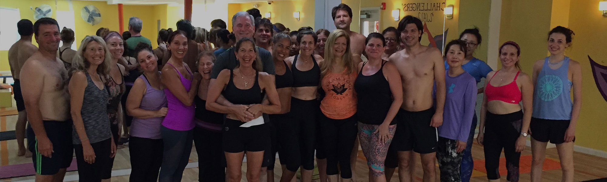 Students After a Yoga Class at Bikram Yoga Roslyn