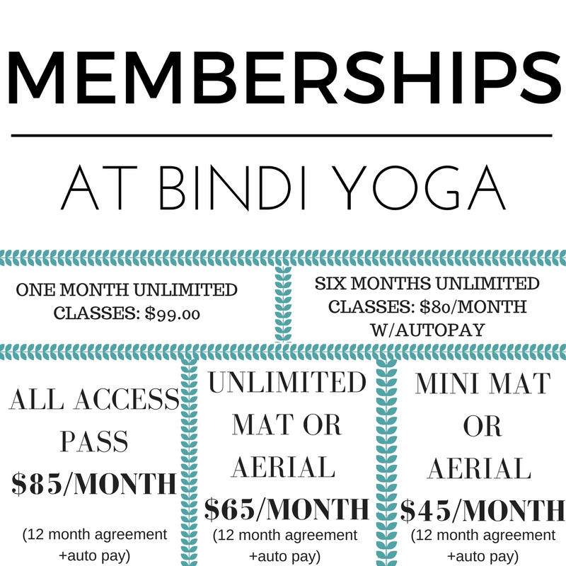 MEMBERSHIPS AT BINDI