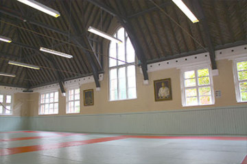 Inside of The Budokwai Martial Arts Club in London