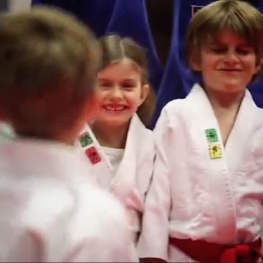 Mini Judo Student at The Budokwai Martial Arts Club in London