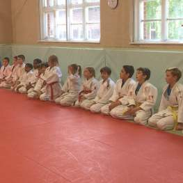 Practicing a Toss in a Junior Judo Class at The Budokwai