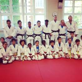 Junior Judo Students Practicing at The Budokwai