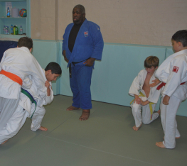 Judo Toss in a Junior Judo Class at The Budokwai