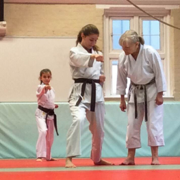 Students Practicing During a Junior Karate Class at The Budokwai