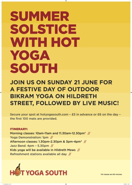 Hot Yoga South Summer Solstice