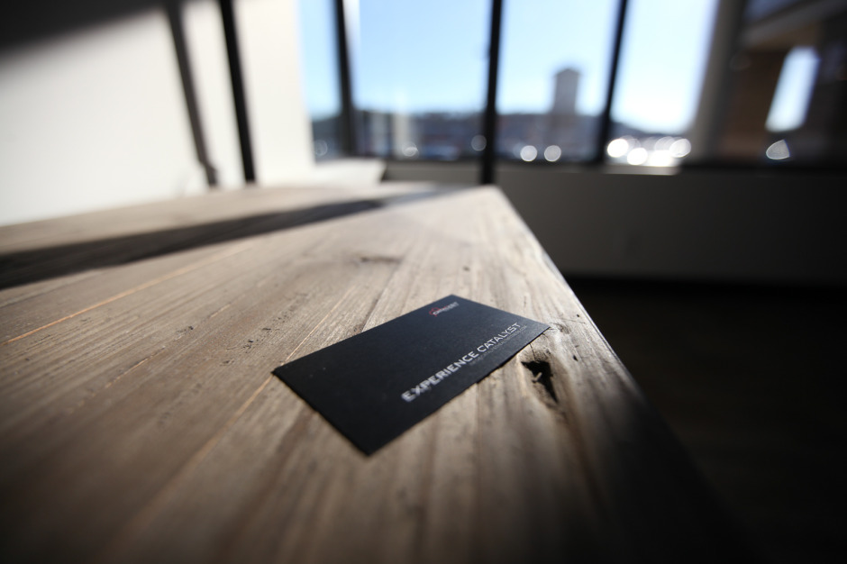 Catalyst Health Fitness Business Card On Table