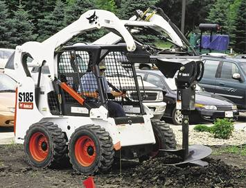 Bobcat, with Post Hole Digger