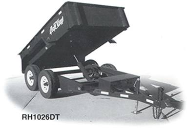 dump trailer, 3 and 4