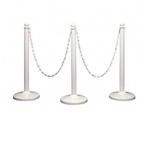 Stanchions - 10' White Chain