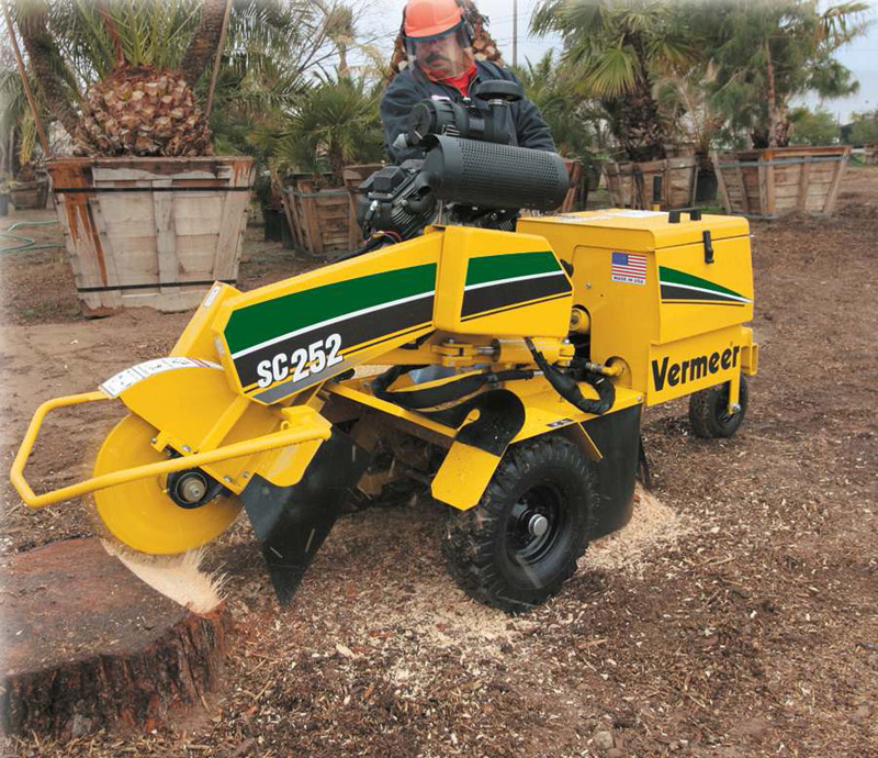 stump grinder, large