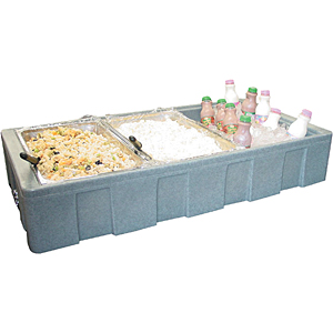 chilled condiment server cold buffet server - Cold Buffet Server