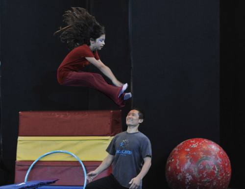 Young circus member jumping | After School | Circus Center