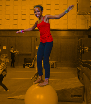 Young person the rolling globe | Kids Parties | Circus Center