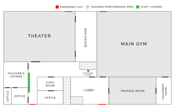 Map of Circus Center's Main Floor | San Francisco