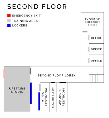 Circus Center Map of Second Floor