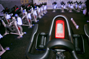 Inside the Indoor Cycling Studio at Cycle614 in Columbus, OH