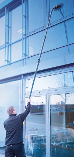 Make outdoor window washing easy with a Pure Water washing system.