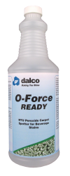 Dalco's O-Force Ready is a ready-to-use hydrogen peroxide cleaner that is a great option for cleaning carpet, especially for beverage stains.