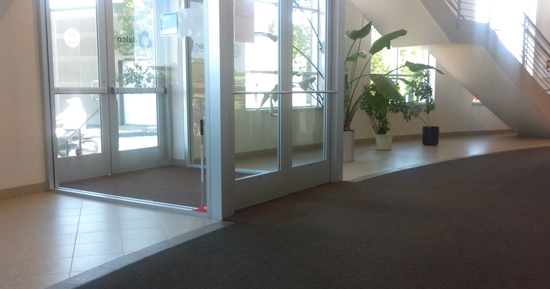 Entryway of the Dalco office building