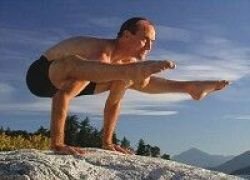 David Swenson - arm balance on rock