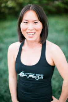June Stewart at Dancing Dogs Yoga Savannah