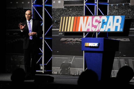 Matt Long speaking at Nascar