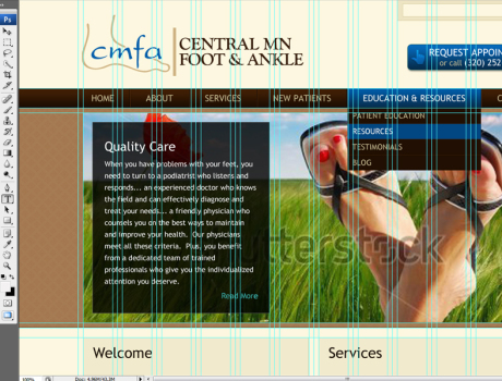 CMFA website design file