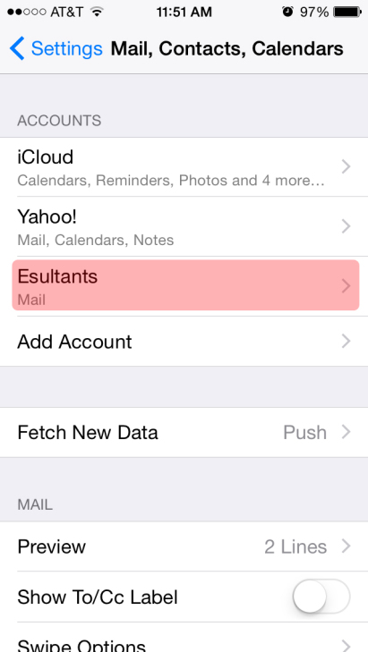iPhone email setup 9