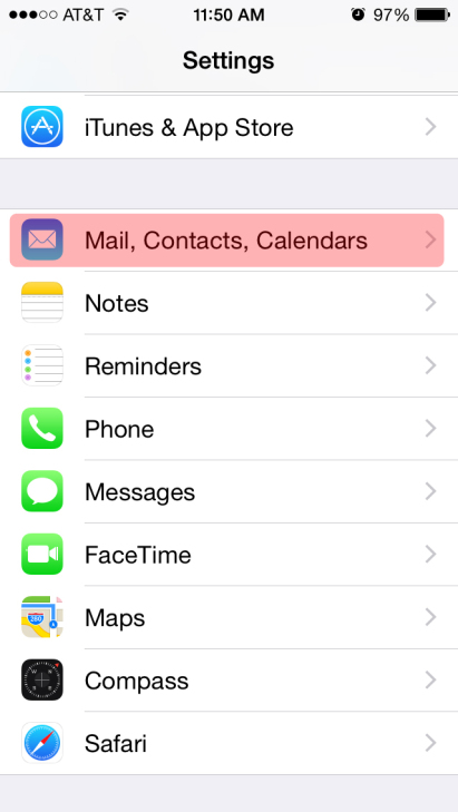 iPhone email setup 2