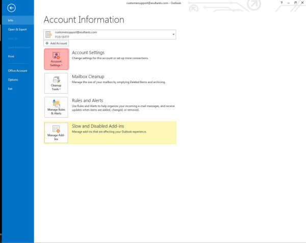 Outlook email setup 2